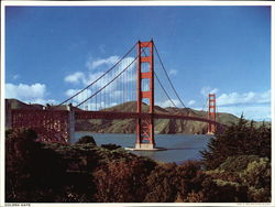 Golden Gate Bridge Large Format Postcard