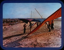 Hang Gliding at Jockey's Ridge Large Format Postcard