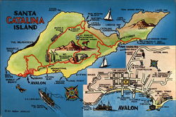 Map of Catalina Island