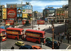 Picadilly Circus Large Format Postcard