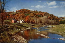 New England Farm in the Fall - White River