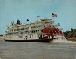 Steamboat Delta Queen on Lower Mississippi River