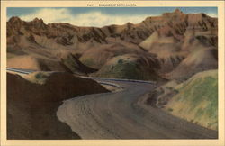 Badlands of South Dakota Large Format Postcard