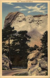 Shrine of Democracy; Rushmore with Highway