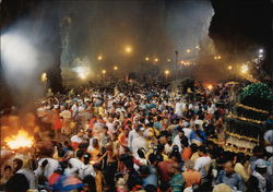 A Swirling Crowd of Hindu Worshippers