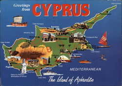 Map of Cyprus - The Island of Aphrodite