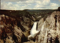 Lower Falls from Moran Point - Yellowstone National Park Large Format Postcard