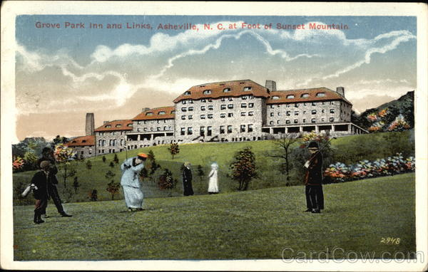 Grove Park Inn and Links at Foot of Sunset Mountain Asheville North Carolina