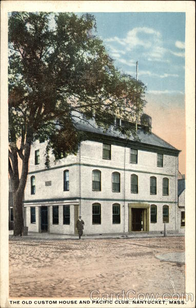 The Old Custom House and Pacific Club Nantucket Massachusetts