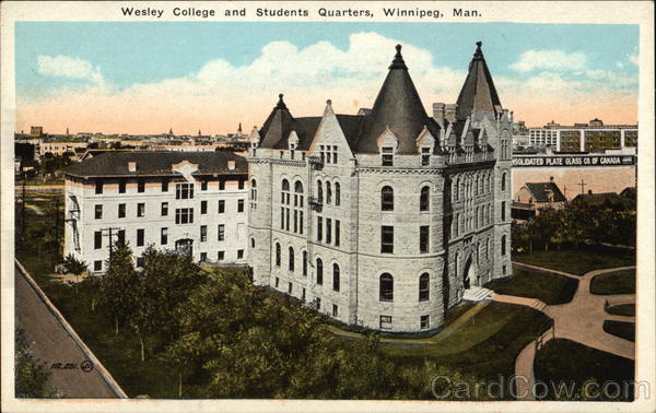 Wesley College and Student Quarters Winnipeg Canada
