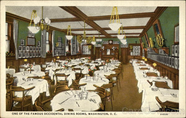 Hotel Occidental - Dining Room Washington District of Columbia