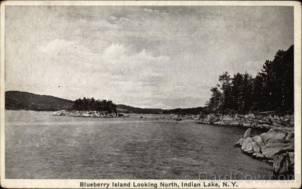 Blueberry Island Looking North Indian Lake New York