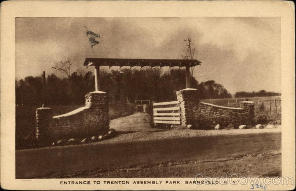 Entrance to Trenton Assembly Park Barneveld New York