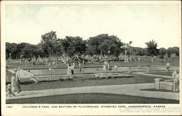 Riverside Park Children S Pool And Section Of Playground