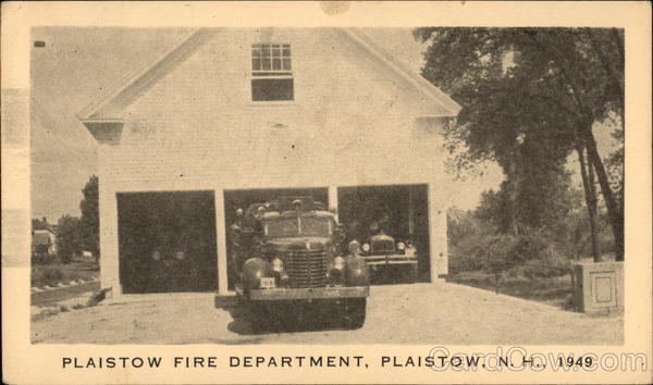 Plaistow Fire Department 1949 New Hampshire