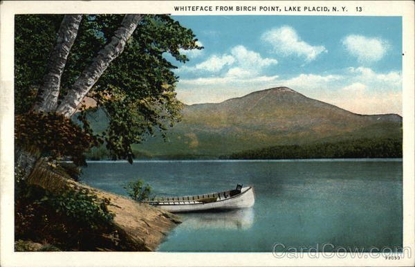 Whiteface from Birch Point Lake Placid New York