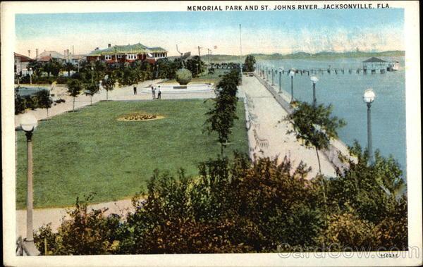 Memorial Park And St Johns River Jacksonville Fl