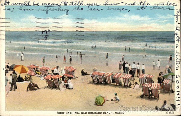 Surf Bathing Old Orchard Beach Maine