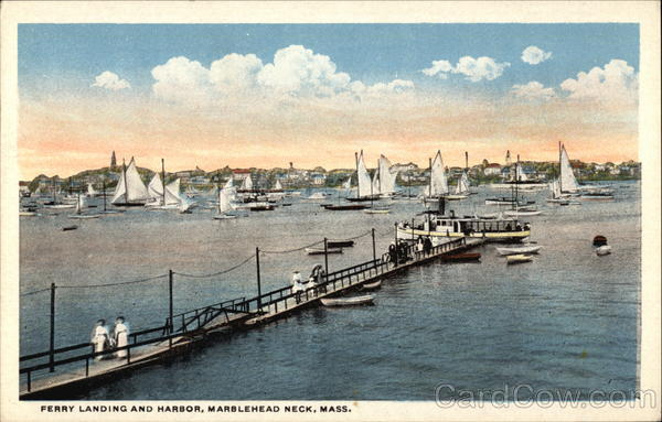 Perry Landing and Harbor Marblehead Massachusetts
