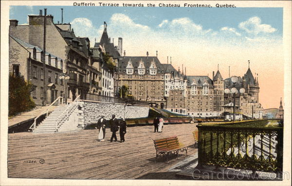Dufferin Terrace towards the Chateau Frontenac Quebec City Canada