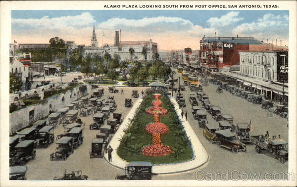 Alamo Plaza looking south from Post OFfice San Antonio Texas