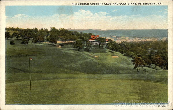 Looking Up Fairway, Pittsburg Country Club and Golf Links Pittsburgh Pennsylvania