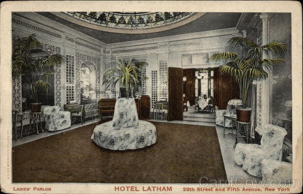 Ladies' parlor, Hotel Latham New York