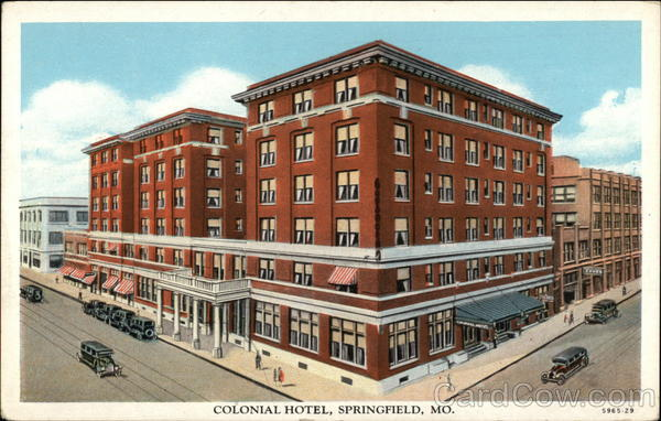 View of Colonial Hotel Springfield Missouri
