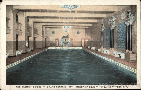 The Swimming Pool, the Park Central, 55th Street at Seventh Ave New York City