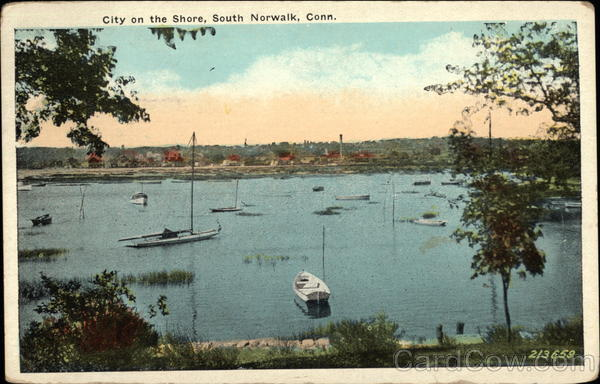 City on the Shore South Norwalk Connecticut First Day Issue Cards