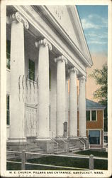M.E. Church, Pillars and Entrance