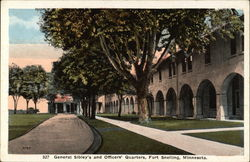 General Sibley's and Officers' Quarters Postcard