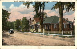 Main Street Showing American Legion
