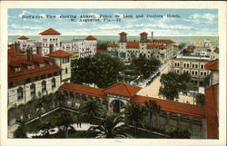 Bird's-Eye View showing Alcazar, Ponce de Leon & Cordova Hotels