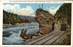 Giant Rock and Trolley Line Through Gorge