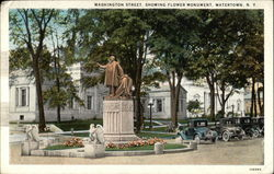 Washington Street showing Flower Monument