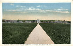 Bird's-eye view Army Post, Fort Sam Houston Postcard