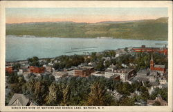 Bird's-Eye View of Watkins and Seneca Lake