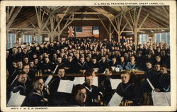 U.S. Naval Training Station - Navy Y.M.C.A. Concert Postcard
