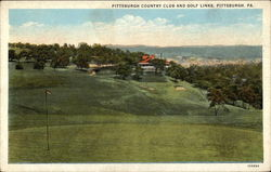 Looking Up Fairway, Pittsburg Country Club and Golf Links