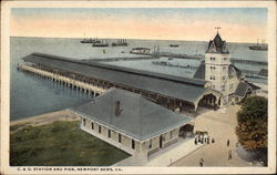 C. & O. Station and Pier