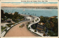 Riverside Drive and Hudson River