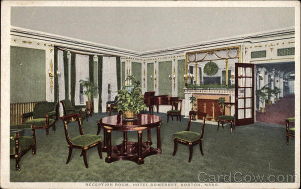 Reception Room, Hotel Somerset Boston Massachusetts