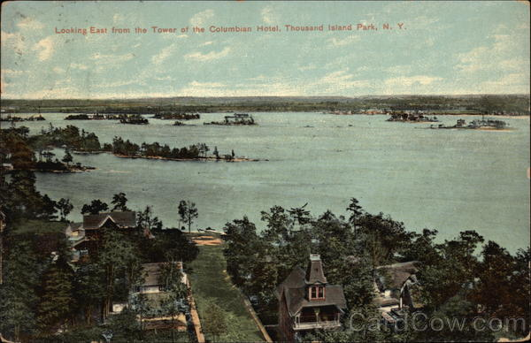 Looking East from th Tower of the Columbian Hotel Thousand Island Park New York