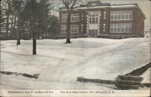 The New High School, 1915 Meredith New Hampshire