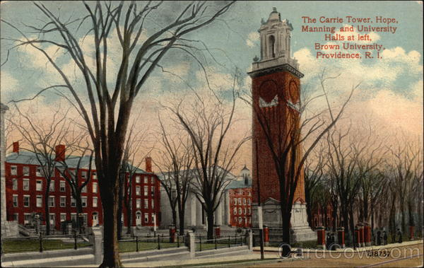 The Carrie Tower, Hope, Manning and University Halls at left, Brown University Providence Rhode Island