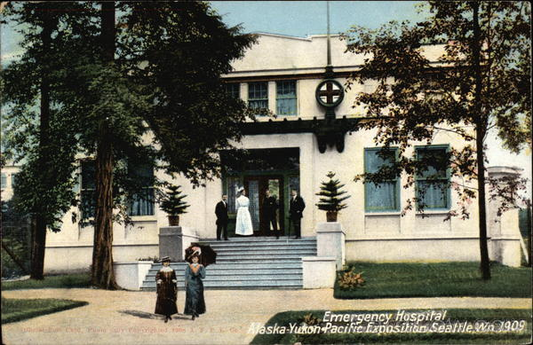 Emergency Hospital, Alaska-Yukon Pacific Exposition, 1909 Seattle Washington