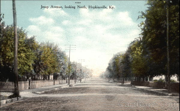 Jesup Avenue, Looking North Hopkinsville Kentucky