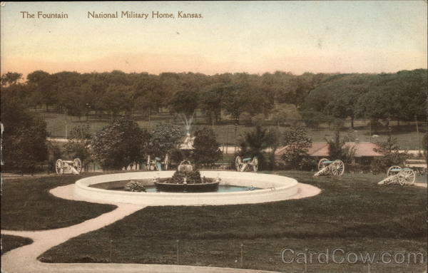 The Fountain, National Military Home Leavenworth Kansas