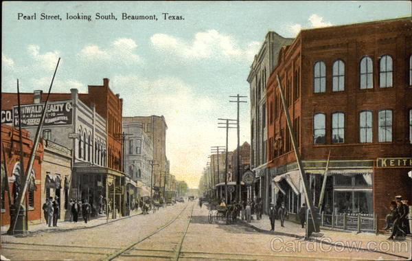 Pearl Street, Looking South Beaumont Texas